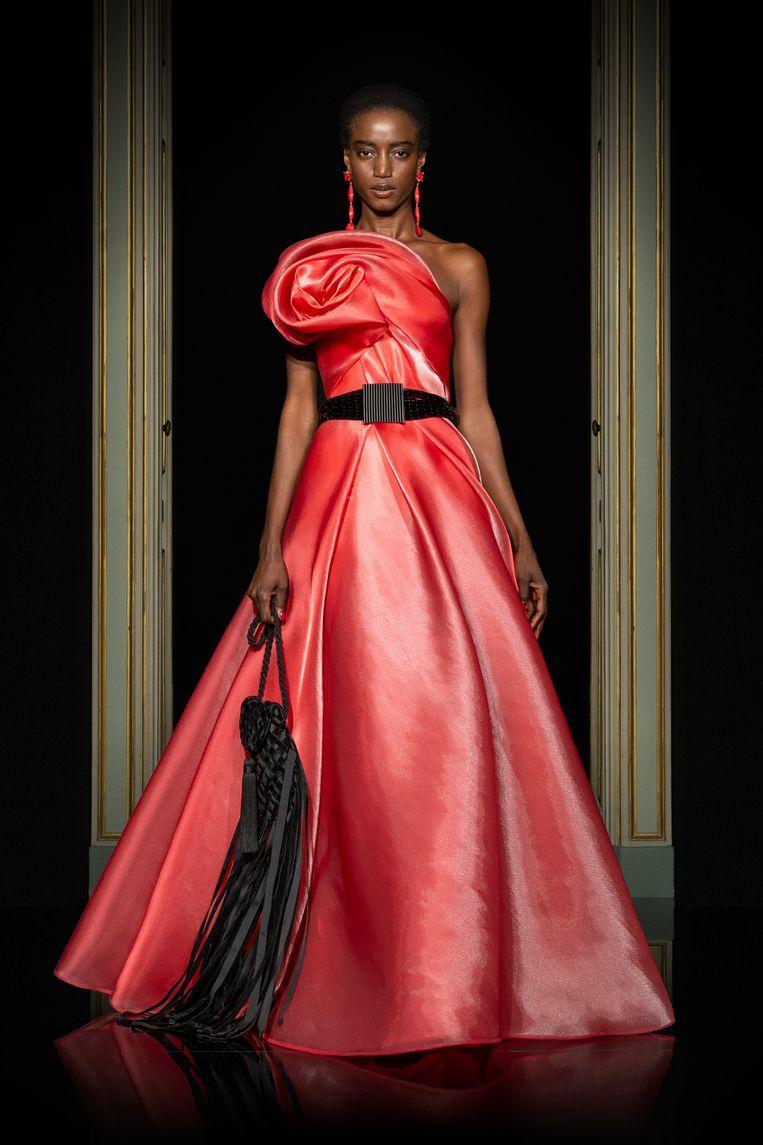 Giorgio Armani Privé, haute couture zomer 2021. Beeld Imaxtree