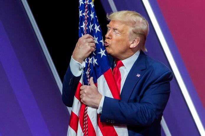 Oud-president Donald Trump tijdens de 47ste CPAC (29/02/2020).