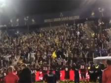 """""""L'esprit de la Coupe"""": les fans de l'Union font la fête avec... les joueurs de Lebbeke"""