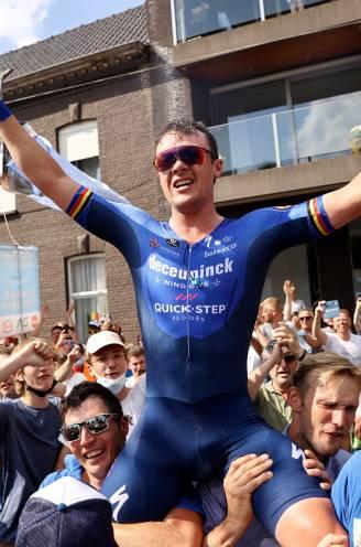Niet Evenepoel, maar thuisrijder Lampaert kroont zich tot Belgisch kampioen tijdrijden
