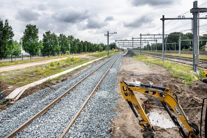 De beoogde toekomstige locatie voor het opstellen van treinen in Geldermalsen.