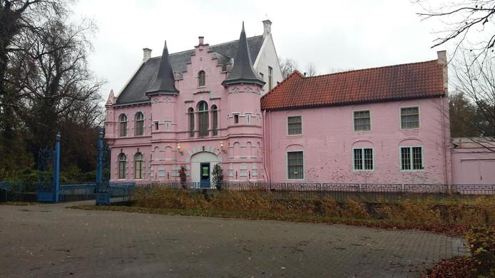 Het roze kasteel bij het Land van Ooit in Drunen.