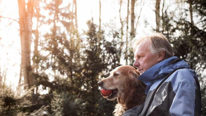 Pol Goossen en zijn hond Wap