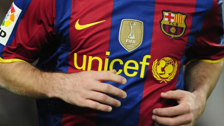Het shirt van FC Barcelona Beeld ap