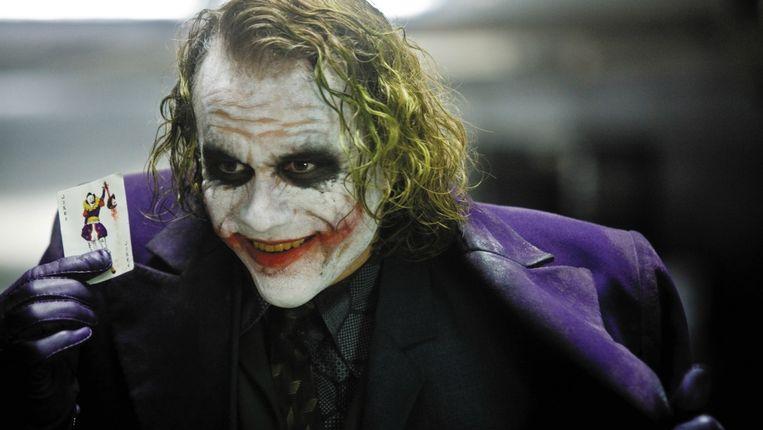 Heath Ledger in The Dark Knight (Christopher Nolan, 2008). Beeld