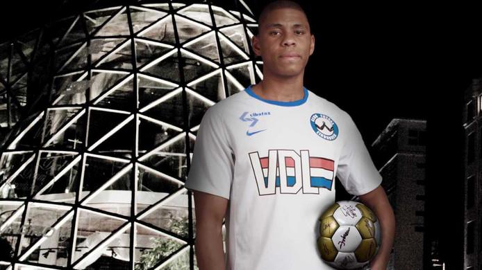 Archiefbeeld: Jordany Martinus droeg al eerder het shirt van FC Eindhoven.