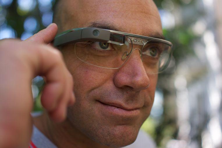 De eerste Google Glass uit 2014 staat bekend als een van de grootste techflops uit Silicon Valley. Beeld Loïc Le Meur - Wikipedia