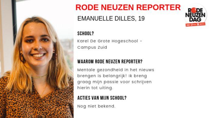 Dit interview werd afgenomen en geschreven door Rode Neuzen Reporter Emanuelle Dilles.