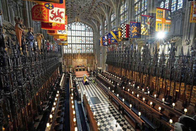 De uitvaart in St. George's Chapel op Windsor Castle. Beeld AP