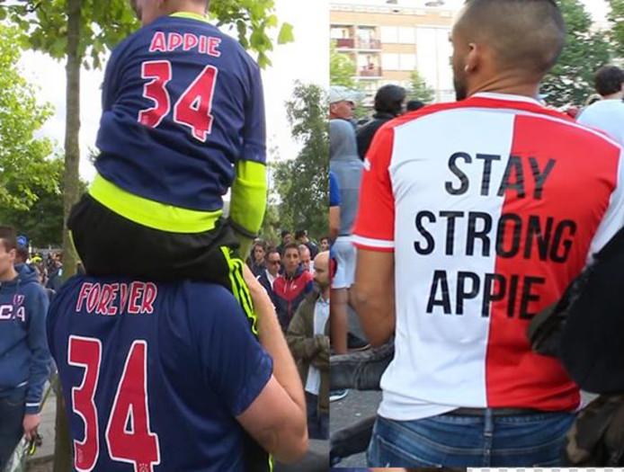 Fans uit het hele land betuigen steun