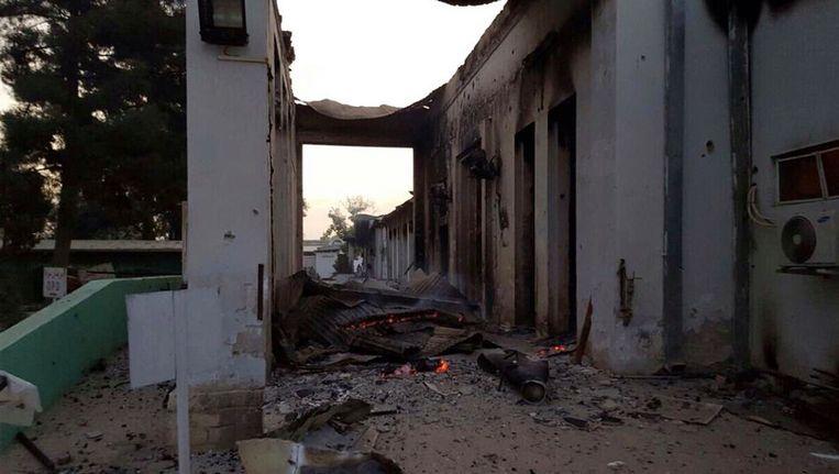 Het gebombardeerde ziekenhuis in Kunduz Beeld AP