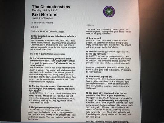 De Stenografen Op Wimbledon Absolute Topsport Wimbledon Adnl