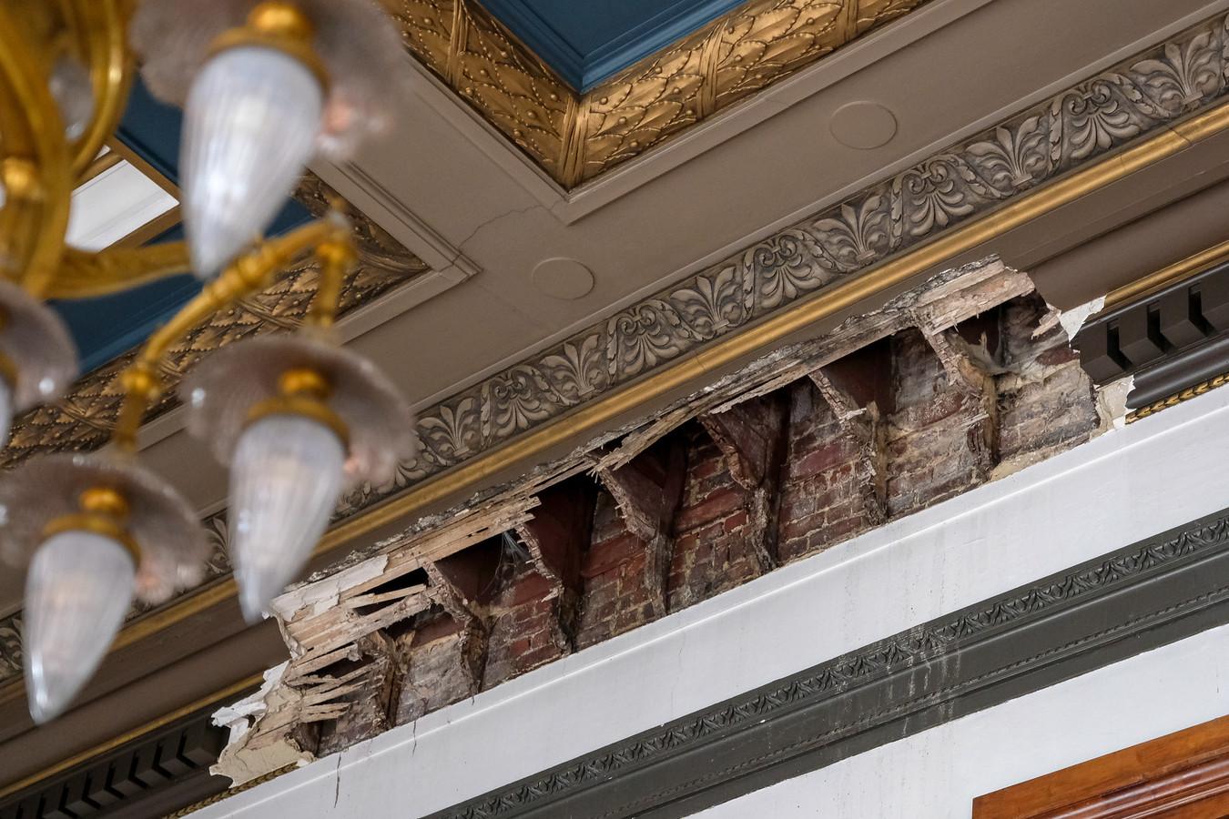 Drie jaar geleden kwam een deel van het plafond van de griffie van het hof van cassatie naar beneden
