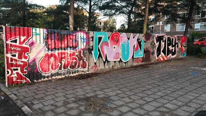 Het nieuwe werk dat sinds maandag 24 september op het muurtje staat.