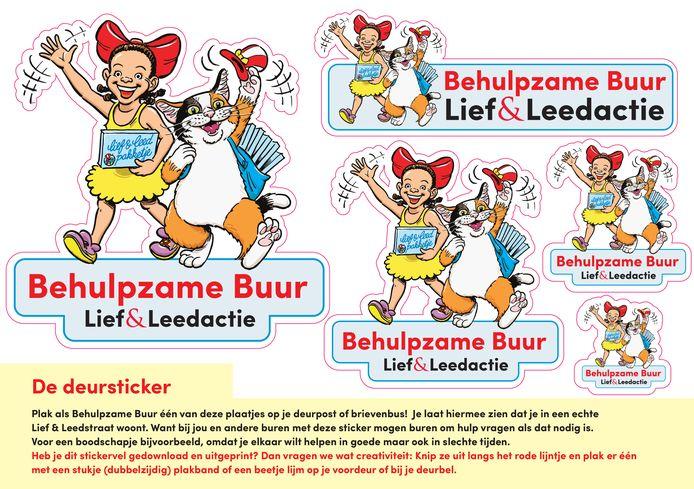 De Lief & Leedpakketjes van Opzoomer Mee, met daarin onder andere deurstickers zodat buren weten bij wie ze kunnen aankloppen voor hulp, zijn razend populair.