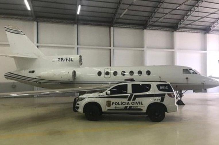 Een van de twee in beslag genomen privéjets. Beeld Polícia Civil/Goiás