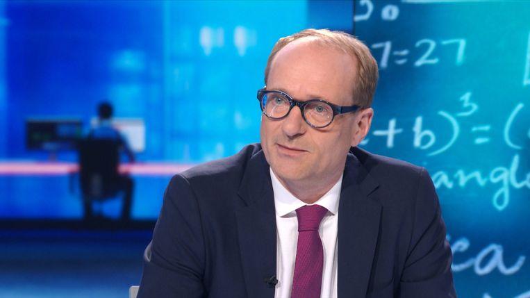 Vlaams minister van Onderwijs Ben Weyts (N-VA) als studiogast bij VTM Nieuws op 9 februari 2020.