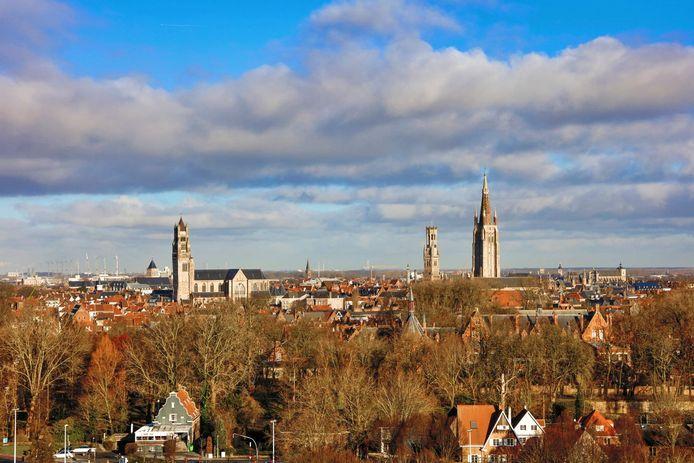 Het zicht vanuit de kamer van Radisson Blu in Brugge is knap.