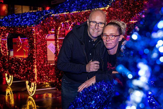Petrouska Beke en Sam Nuytten zijn de drijvende krachten achter Kerst@Stationsplein.