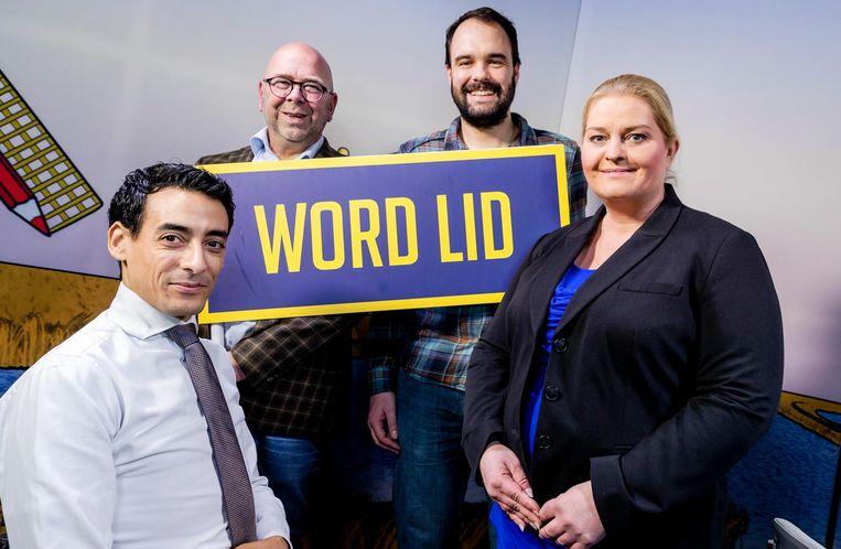 Ahmed Aarad, Jan Dijkgraaf, Bart Nijman en Beryl Dreijer van GeenPeil. Beeld anp
