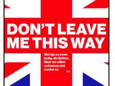 Oproep aan de Britten: Please don't leave us