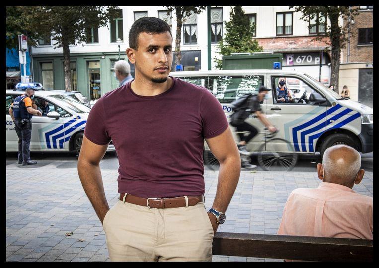 Yassine Boubout: 'Een agent zei tegen een jongere: 'Als je nu niet zwijgt, eindig je zoals Adil.' Als je zoiets hoort, word je natuurlijk zot.' Beeld