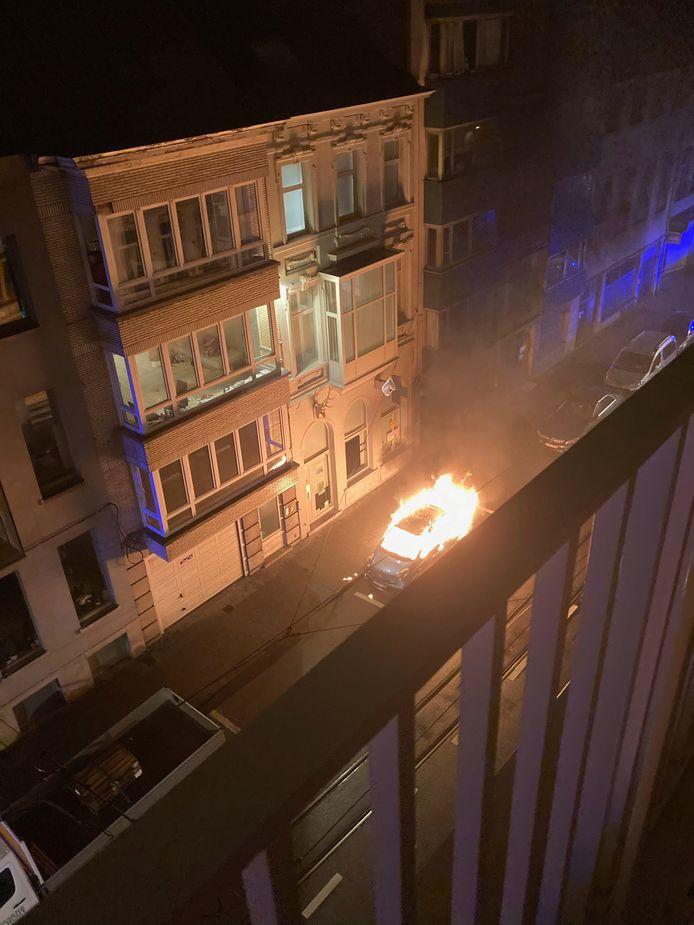 Autobrand in Ledeberg