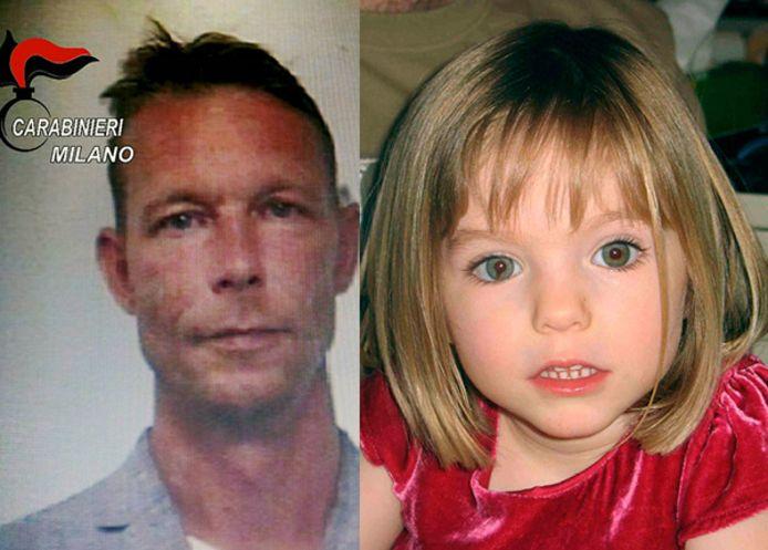 Le suspect allemand Christian Bruckner et Maddie McCann