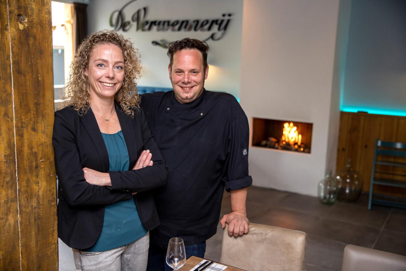 Jan en Marieke van Gestel in hun restaurant De Verwennerij, onderdeel van Hoeve 1827.