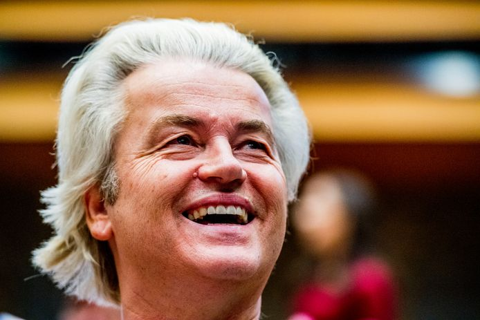 DEN HAAG - PVV-leider Geert Wilders  tijdens de installatie van de nieuwe Kamerleden na de Tweede Kamerverkiezingen.