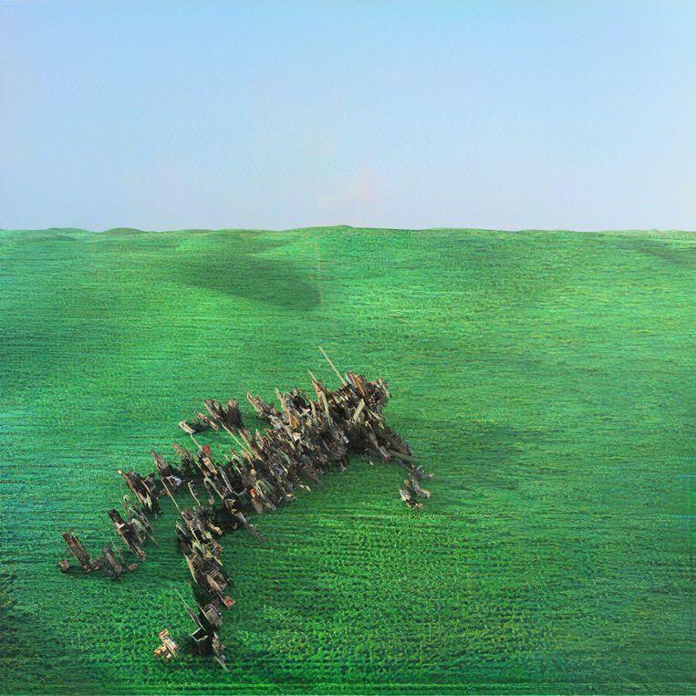 'Bright Green Field' van Squid verschijnt op 7 mei via Warp Records. Beeld RV