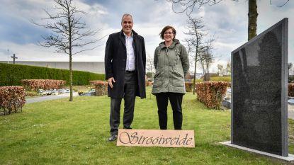 Nieuwe strooiweide aan kerkhof in Moerzeke