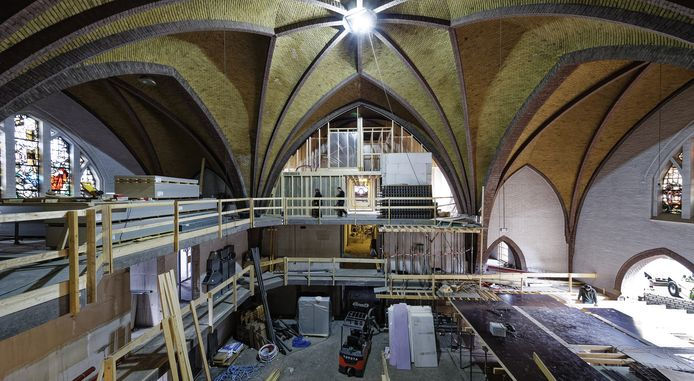 De voormalige Boschwegse kerk in Schijndel ligt op schema met de verbouwing.