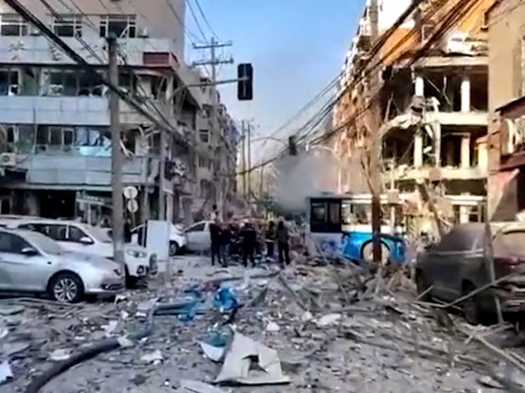 Dashcam filmt enorme gasexplosie in China
