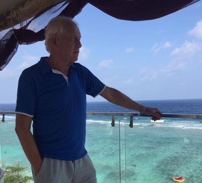 Martin Koopman: ,,Stranden zijn amper te vinden op het eiland waar ik verblijf.''