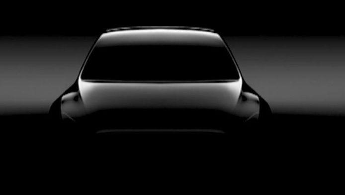 Musk toonde alvast deze preview van de Tesla Model Y.