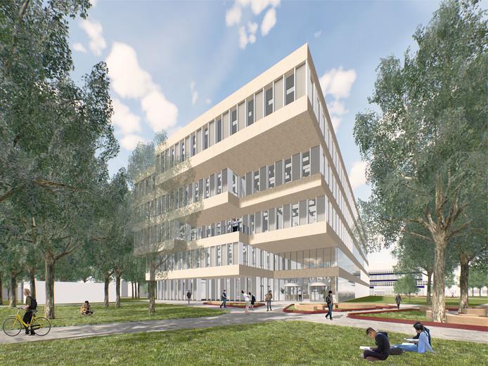 Het voorlopig ontwerp voor de nieuwbouw voor Hogeschool ICT van Fontys in Eindhoven.