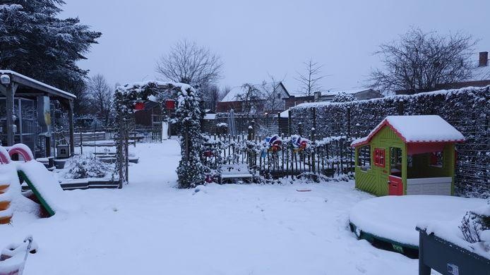 Sneeuw in Hoogstraten.
