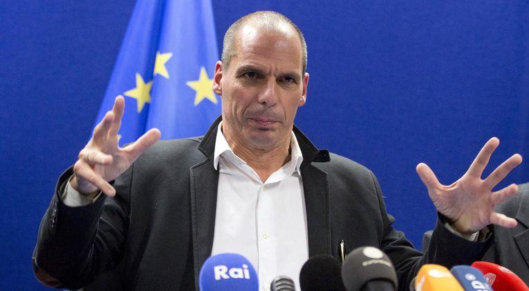 De belofte van Varoufakis dat er een tweede Griekse brief met vraag om steun zou komen, viel niet in goede aarde bij de eurogroep. Beeld AP