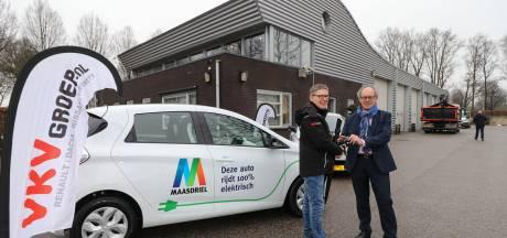 Buitendienst Maasdriel maakt de blits met elektrische auto's