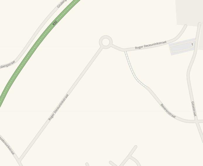 De ligging van de Roger Deceuninckstraat