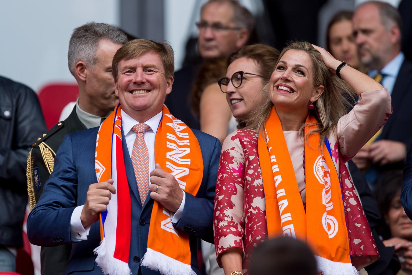 Bij het EK 2017 in eigen land was koning Willem-Alexander ook van de partij.