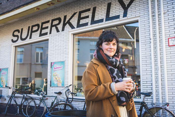 Eva Mouton aan Superkelly, één van haar lievelingsplekken in Gent.