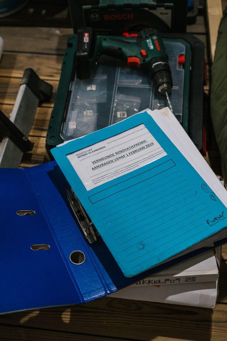 Voor de Vlaamse Renovatiepremie gebeurt de aanvraag niet digitaal maar op papier. Beeld Wouter Van Vooren