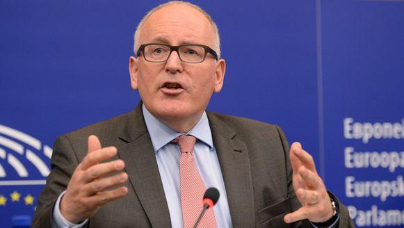 Vicevoorzitter van de Europese Commissie Frans Timmermans.