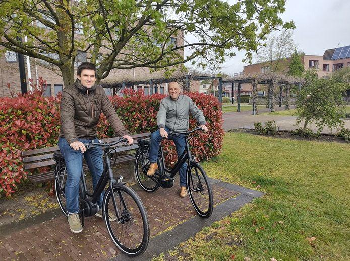 Deskundige milieu Joris Pelgrims en schepen van leefmilieu Willy Broeckx hopen alvast dat de fietsen veelvuldig gebruikt zullen worden.