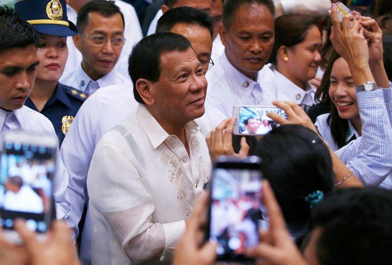 De Filipijnse Rodrigo Duterte. Beeld ap