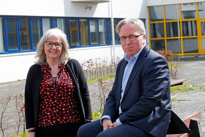 Corina de Bruin en Benedict Hamans, de nieuwe rectoren van het Helinium.