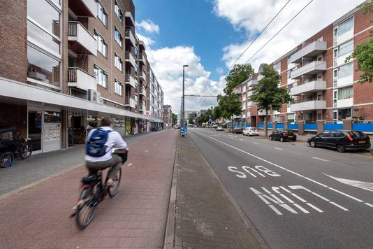 De Ir. van Muijlwijkstraat, volgens velen een van de lelijkste plekken in Arnhem.
