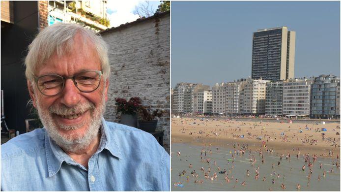Oud-televisiepresentator en journalist Gui Polspoel (75) woont op de 28ste verdieping van het Europacentrum, het hoogste flatgebouw van de kust. Hij is tevens voorzitter van de raad van mede-eigenaars.